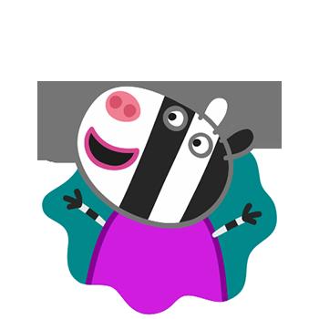 Peppa Pig Personaggi Peppa maialina cartoni animati Characters Zoe Zebra