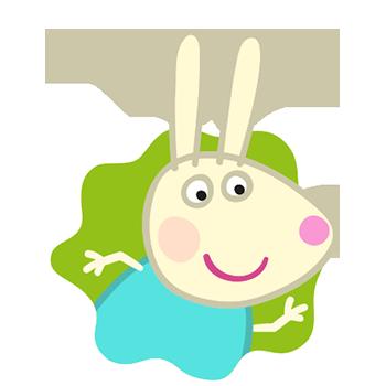 Peppa Pig Personaggi Peppa maialina cartoni animati Characters Rebecca Rabbit Rebecca Coniglio