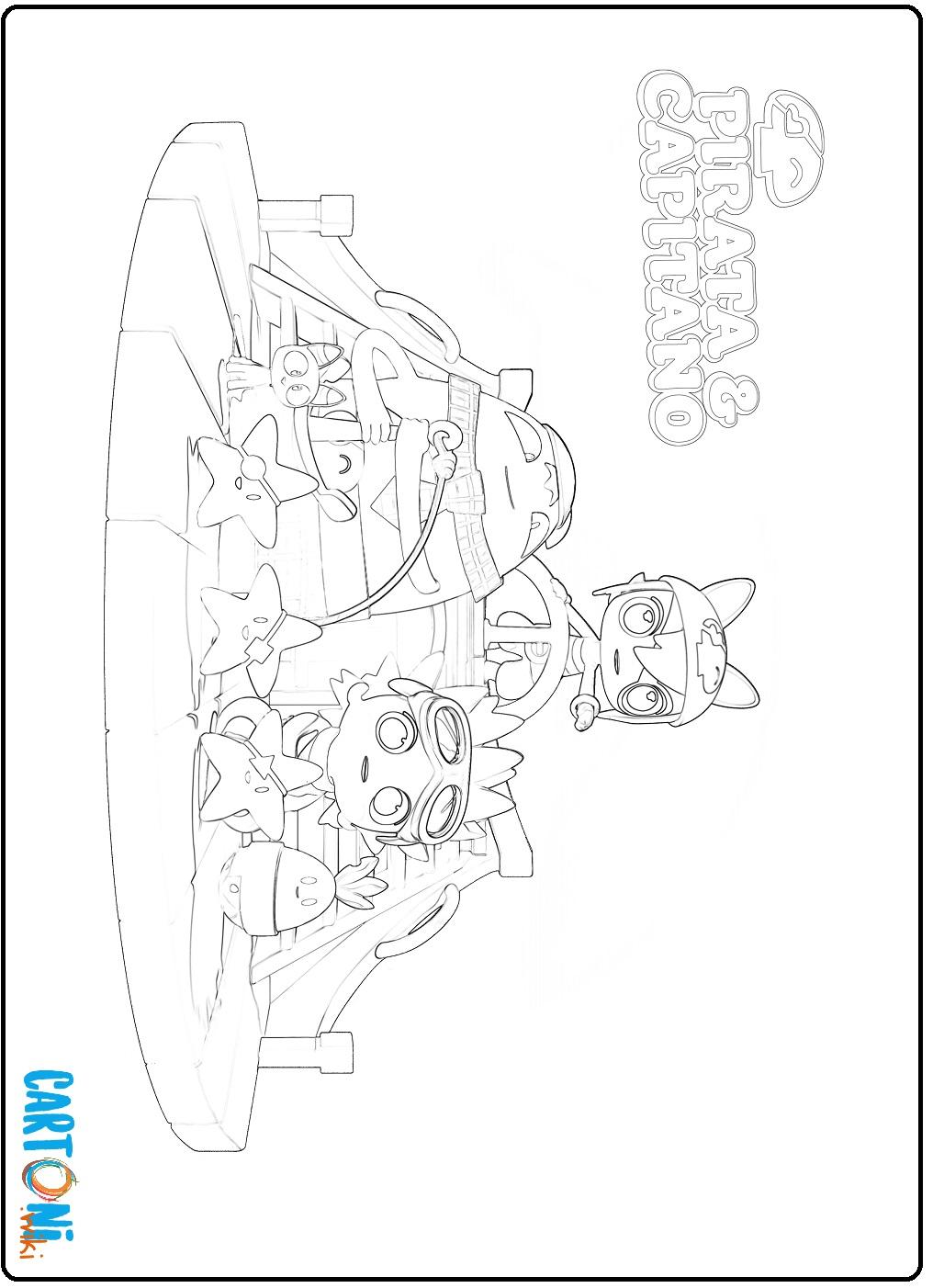 Disegno pirata e capitano da colorare - Stampa e colora