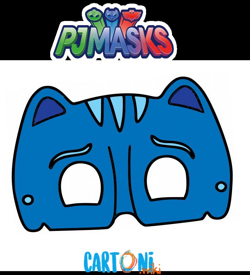 Maschera di Gattoboy dei Superpigiamini
