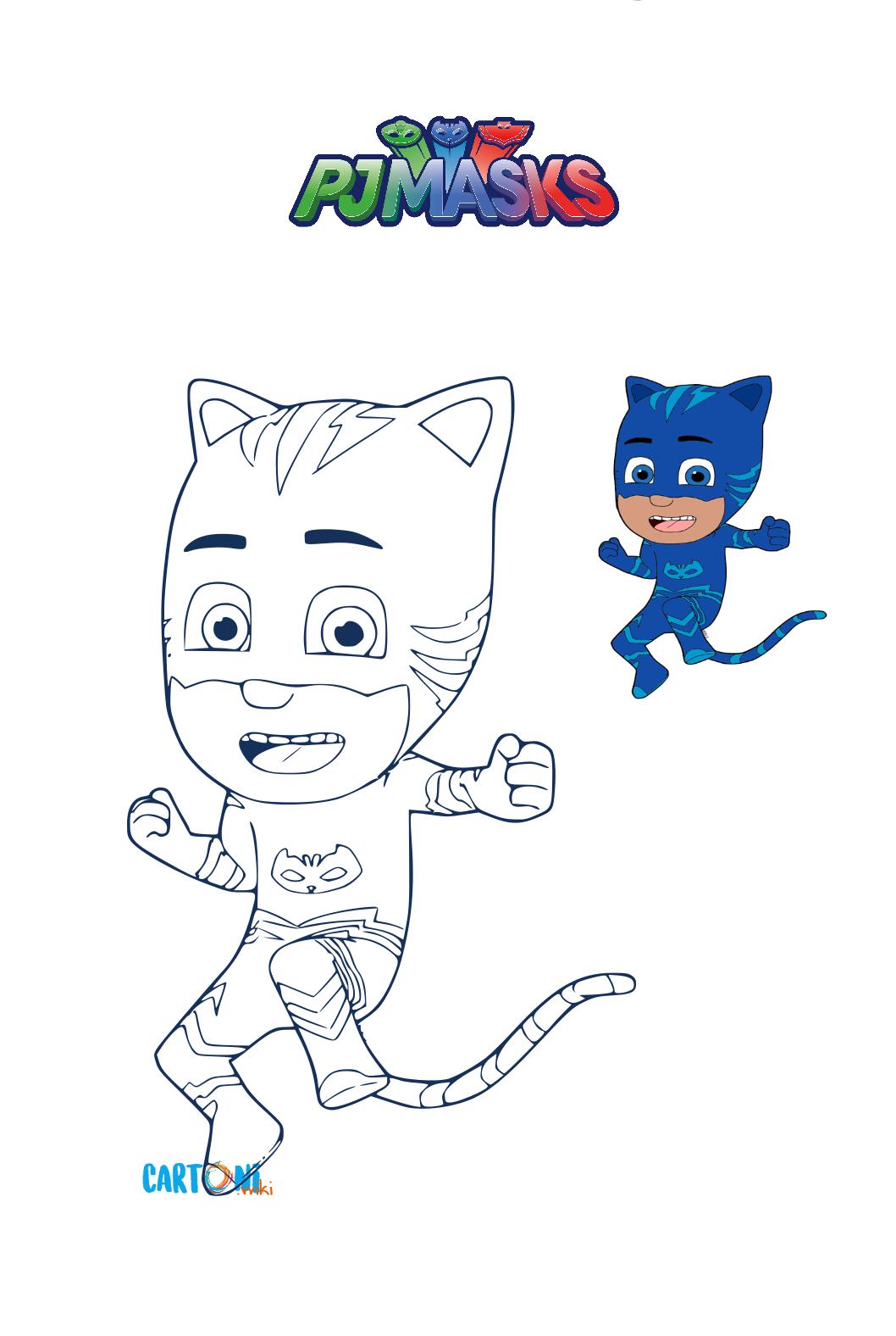 Colora Gattoboy dei Superpigiamini - Disegni da colorare