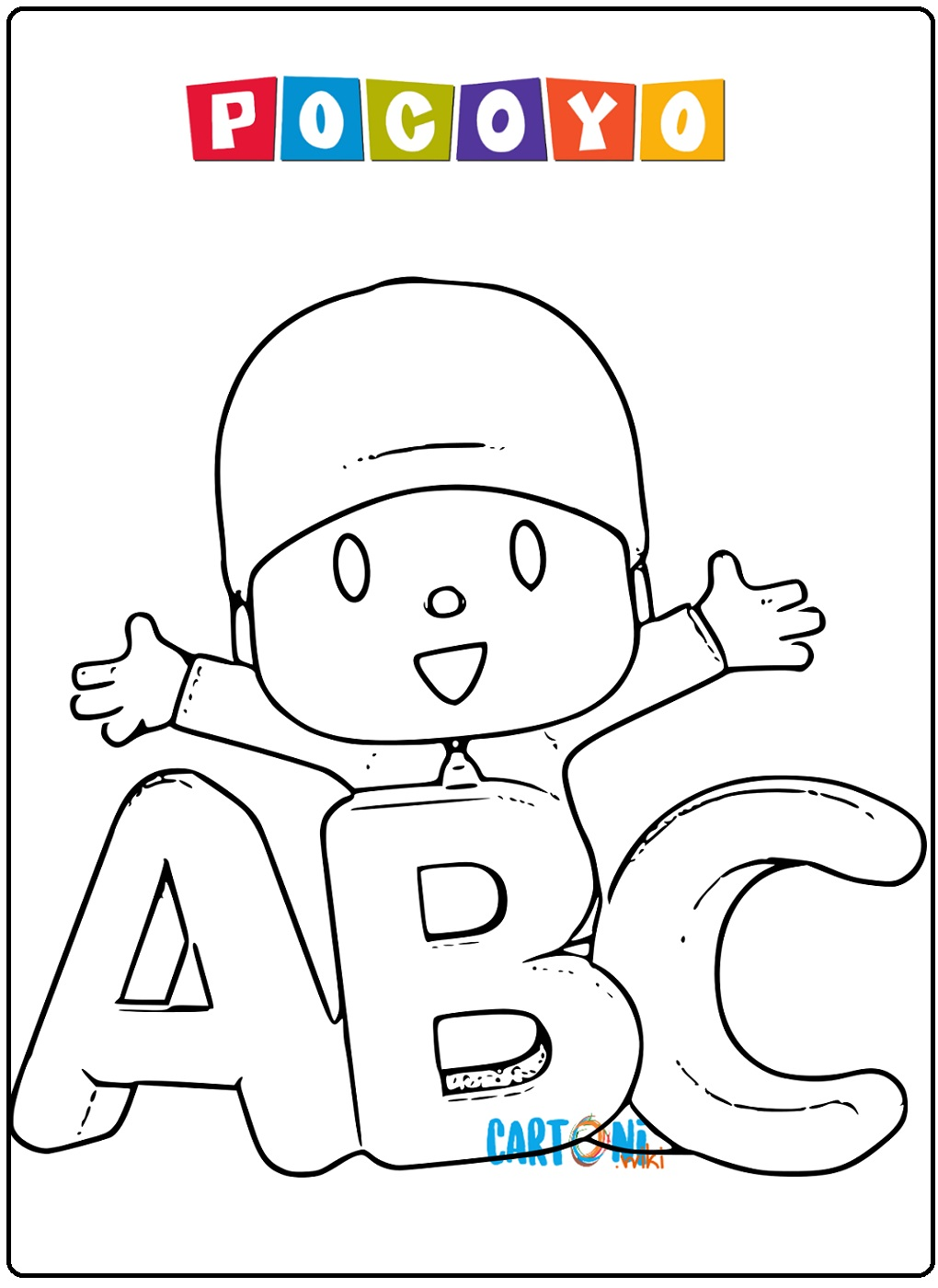 Pocoyo coloring page - Disegni da colorare