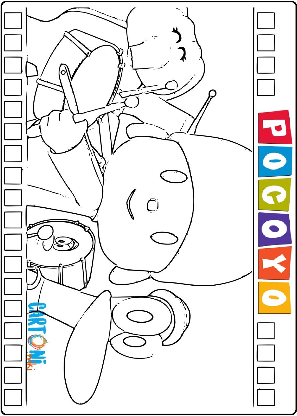 Disegni di Pocoyo da colorare - Disegni da colorare