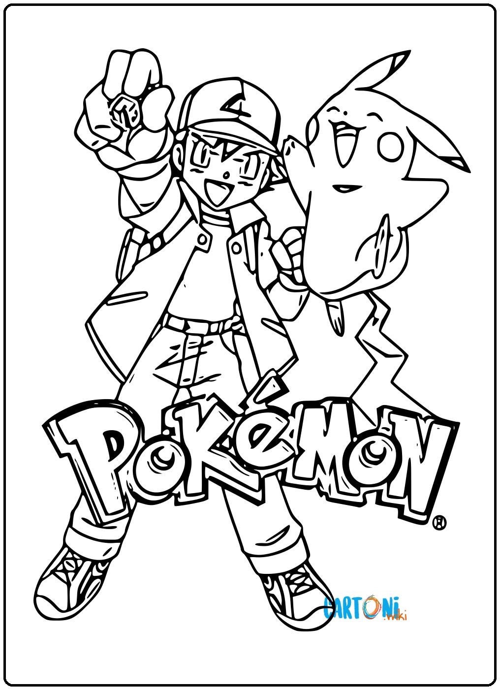 Disegni Da Colorare Di Pokemon.Pokemon Da Colorare E Stampare Cartoni Animati