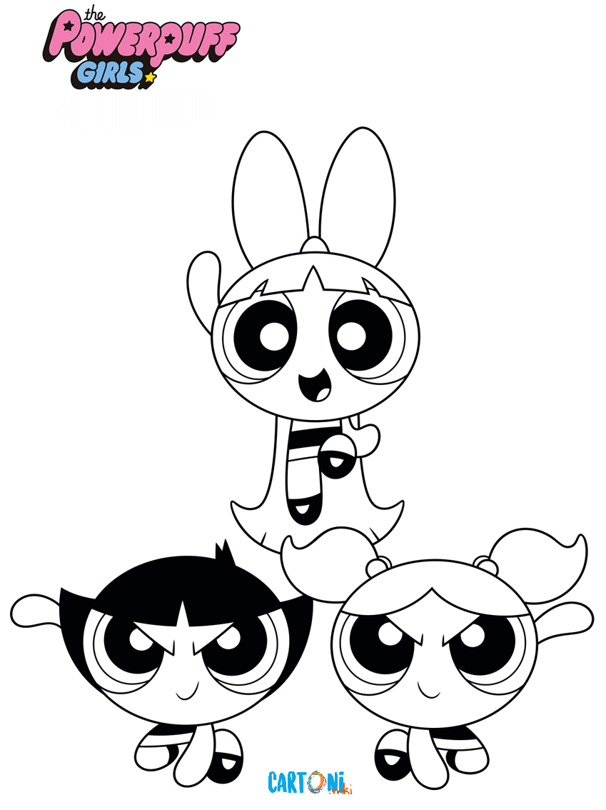 Disegni da colorare Powerpuff girls - Disegni da colorare