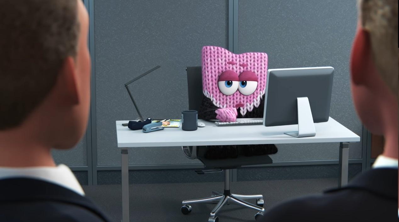 Purl corto pixar - pixar short purl - purl youtube - purl images - cortometraggi pixar - cortometraggio purl gomitolo di lana rosa