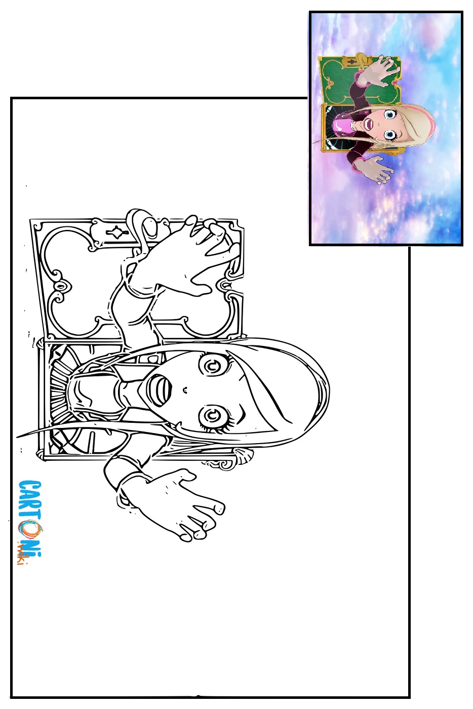 Colora regal academy cartoni animati for Disegni regal academy da colorare