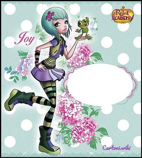 Invito Regal Academy Joy Ranocchio - Inviti feste di compleanno