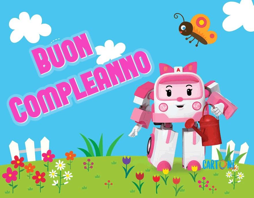 Buon compleanno con Amber di Robocar Poli
