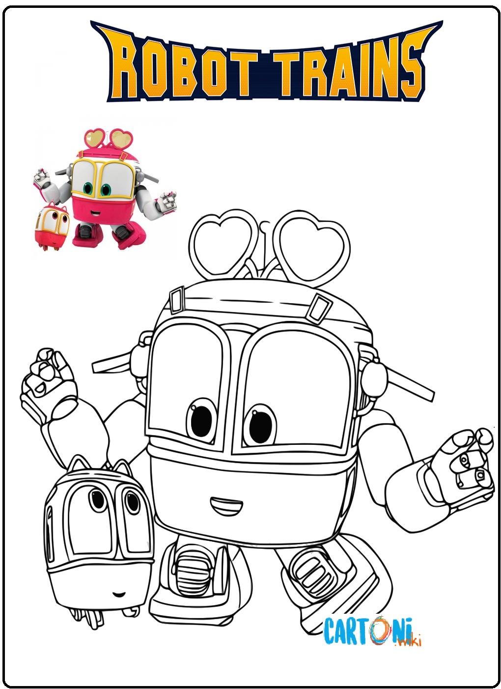 Robot trains disegni da colorare - Disegni da colorare
