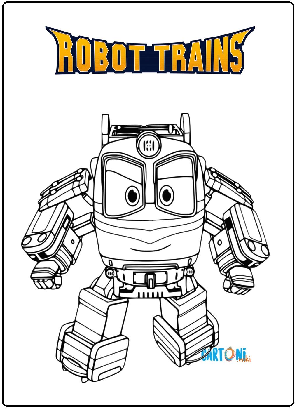 Robot Disegni Da Colorare.Disegno Robot Trains Da Stampare Cartoni Animati