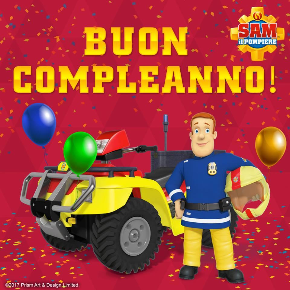Auguri con Sam il Pompiere - Buon compleanno