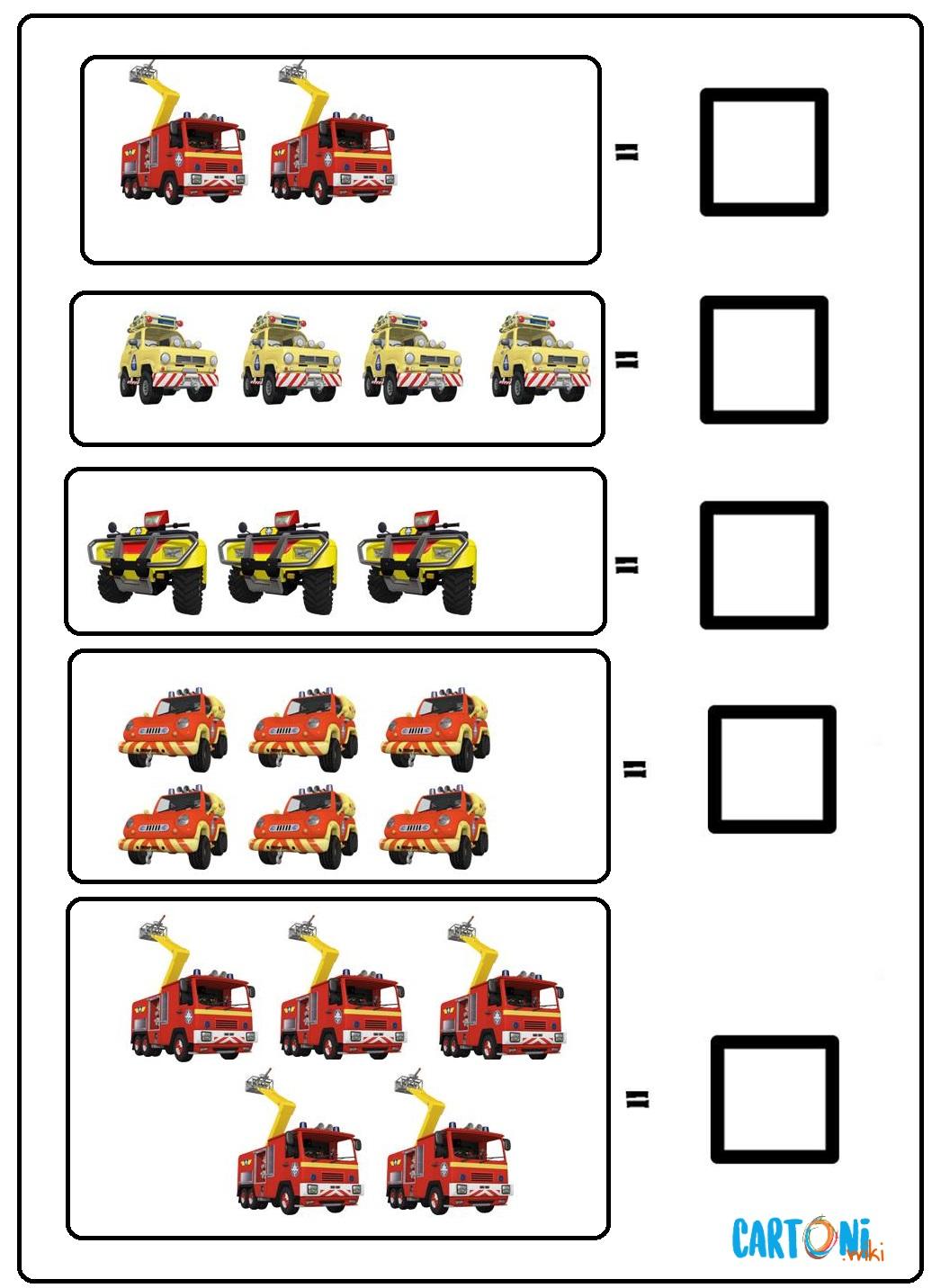 Impara a contare con Sam il pompiere - Cartoni animati