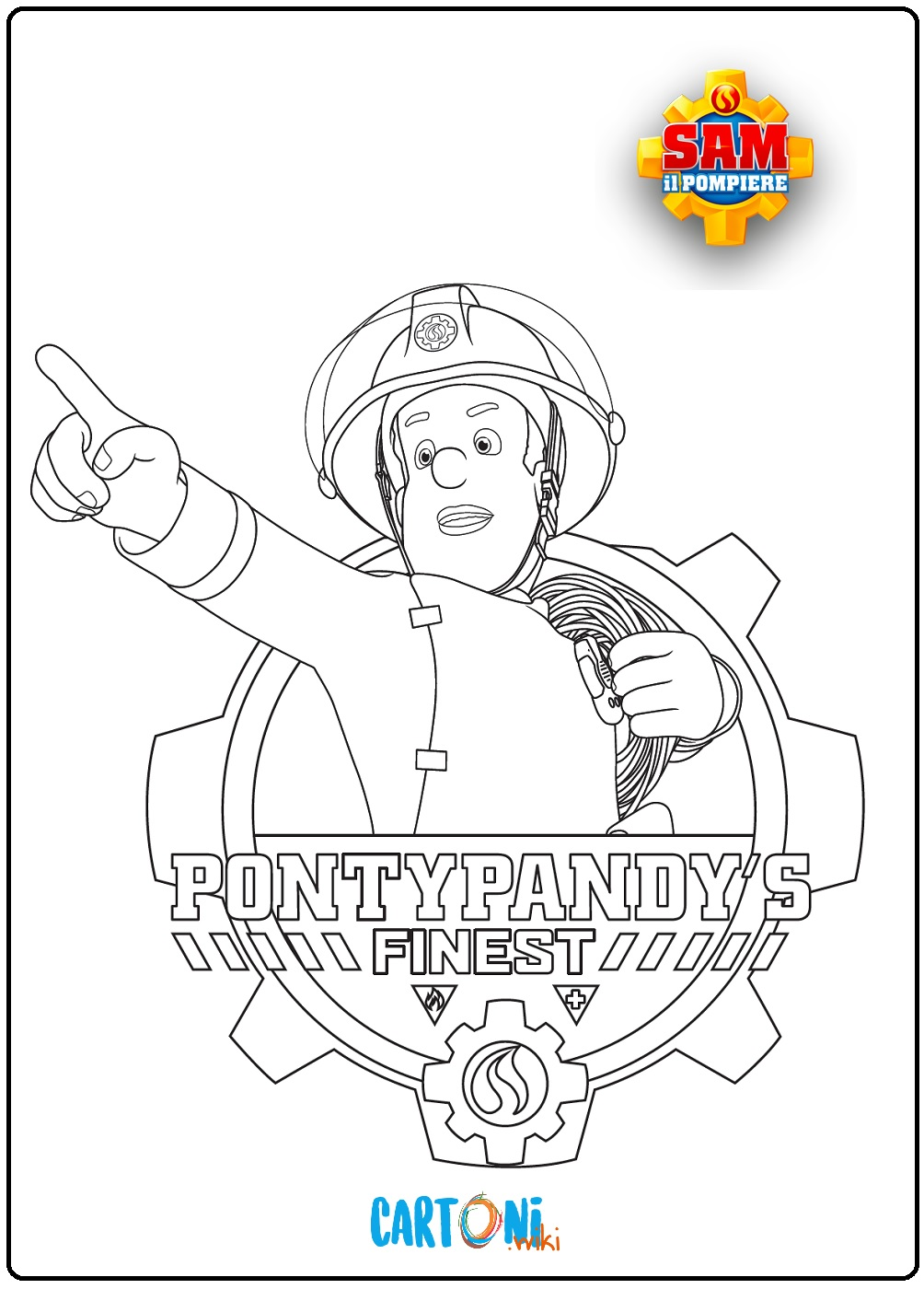 Sam il pompiere disegni da colorare - Cartoni animati