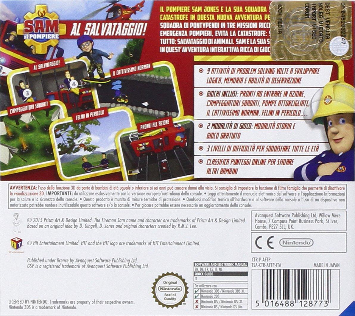 Sam il pompiere videogioco videogames Nintendo 3DS copertina
