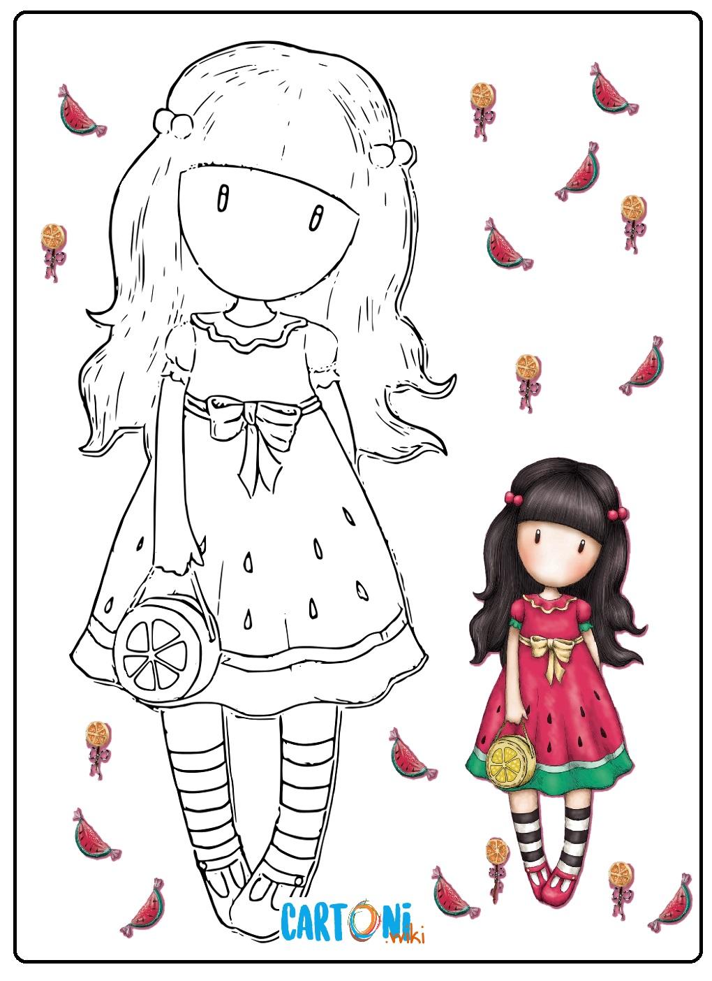 Santoro Gorjuss disegni da colorare - Disegni da colorare