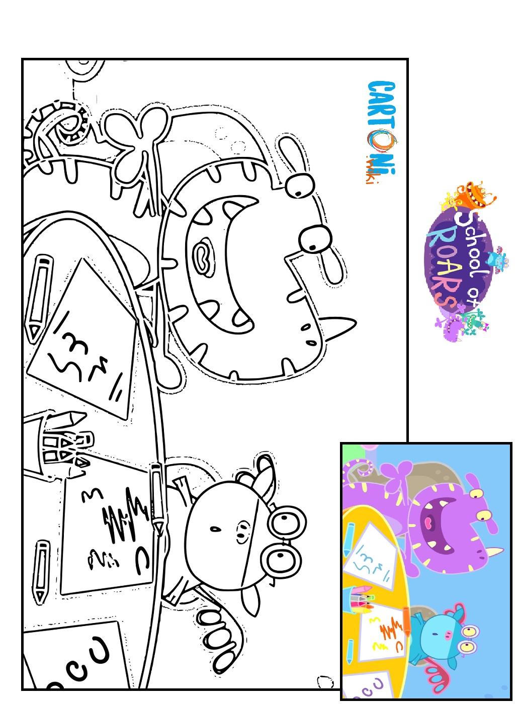 Colora Simpatici Mostri Cartoni Animati