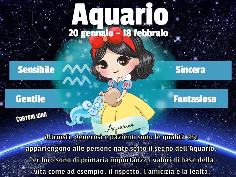 Aquario ( 20 gennaio - 18 febbraio ) - Cartoni animati