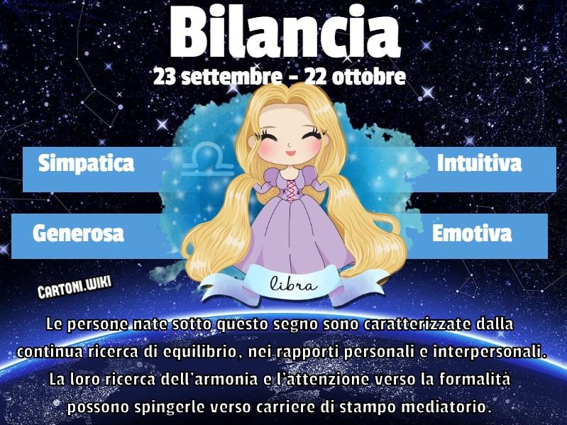 Bilancia ( 23 settembre - 22 ottobre ) - Cartoni animati