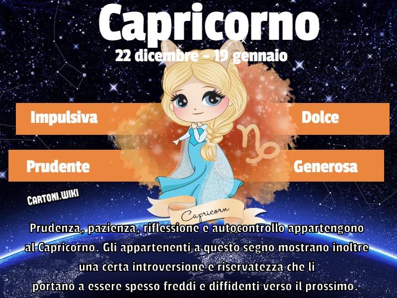 Capricorno ( 22 dicembre - 19 gennaio ) - Cartoni animati