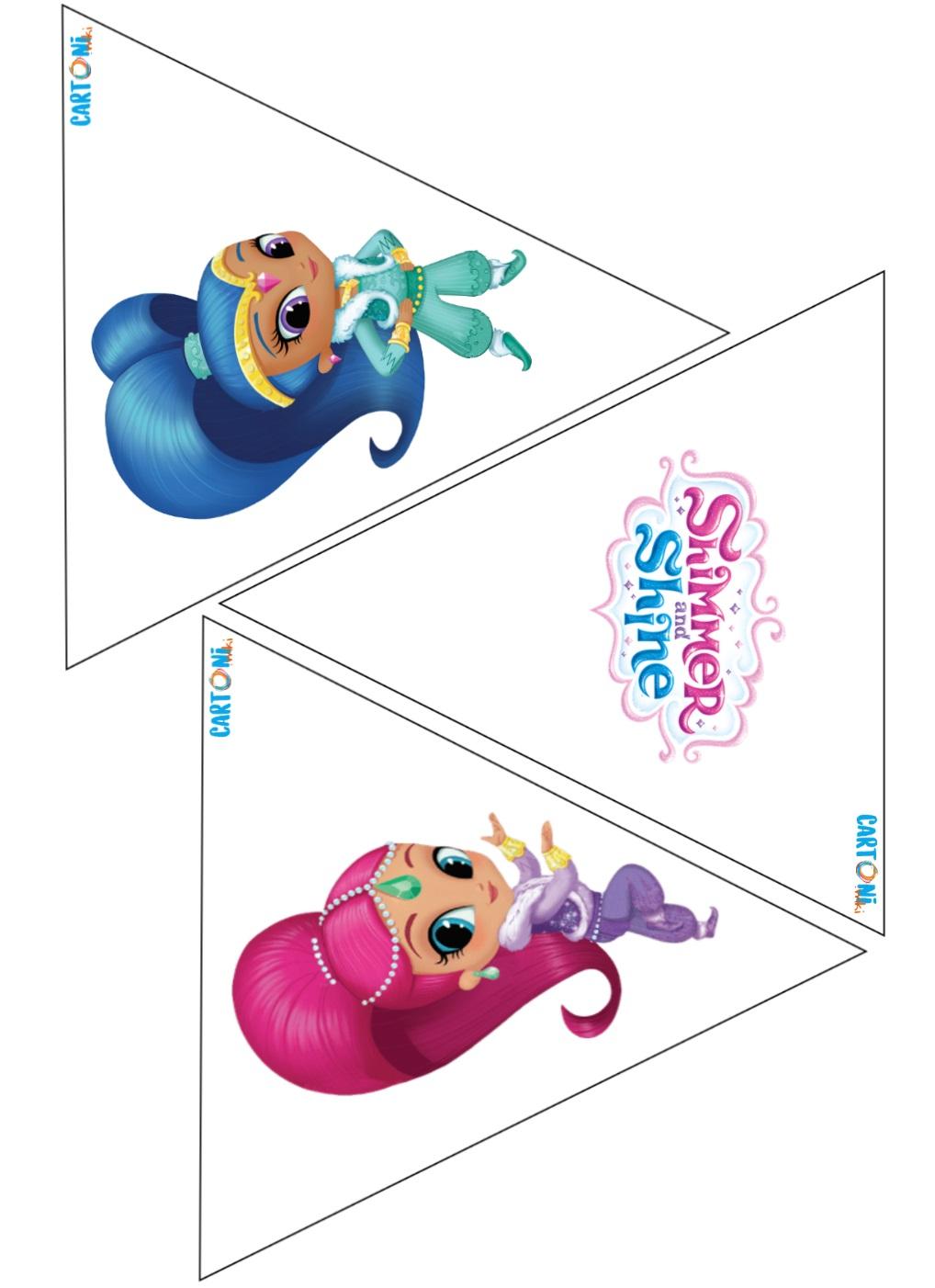 Shimmer and Shine Bandierine festa - Cartoni animati