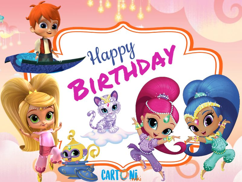 Shimmer and Shine Happy birthday - Happy birthday, buon compleanno, happy birthday