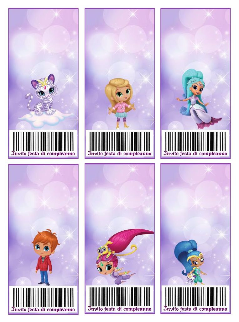 Inviti compleanno di Shimmer and Shine
