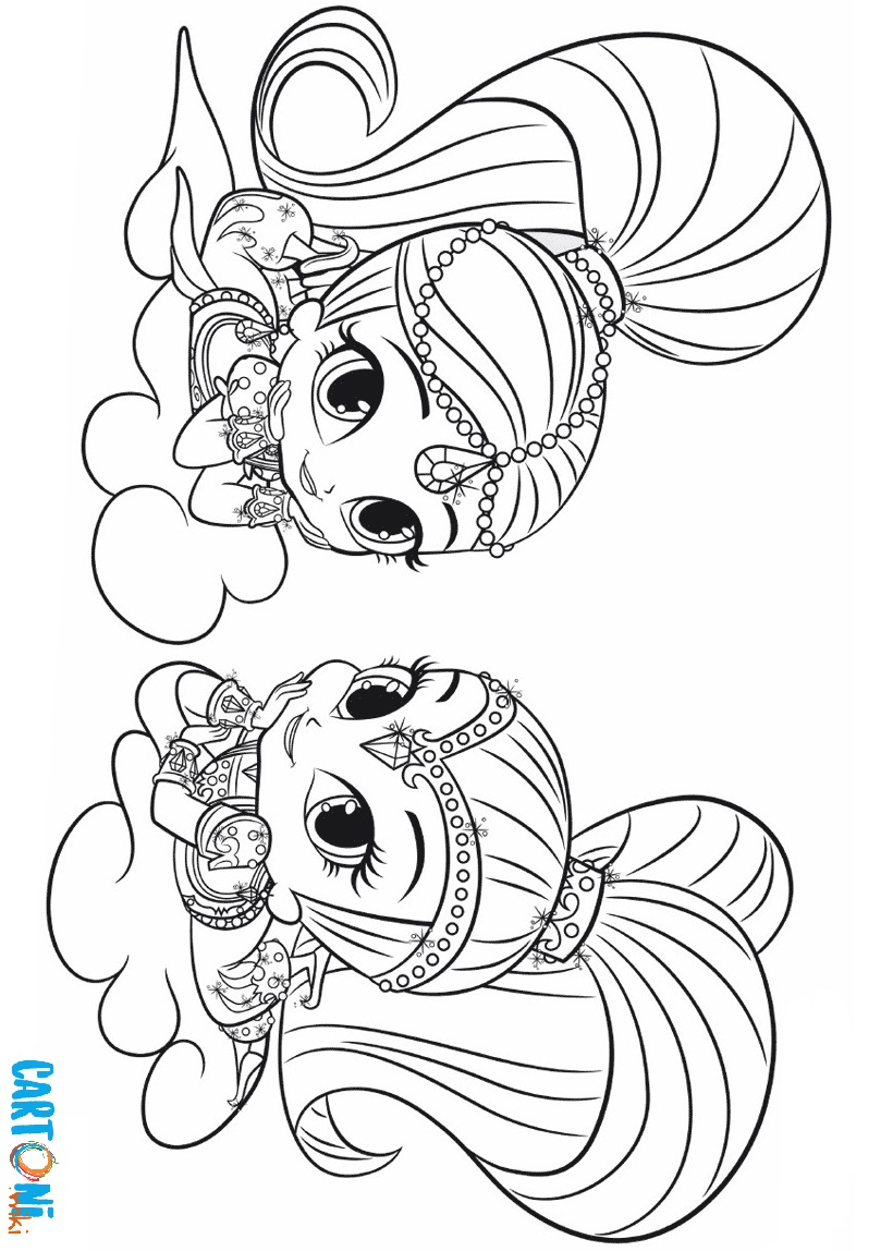 Shimmer e shine stampa e colora cartoni animati for Shimmer and shine da colorare