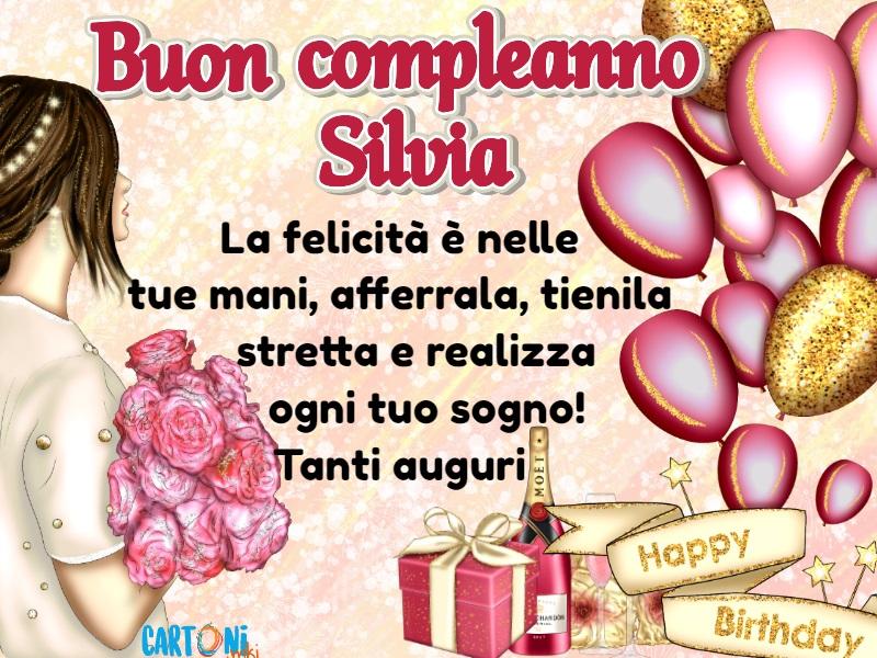 Auguri Silvia per il tuo compleanno - Cartoni animati