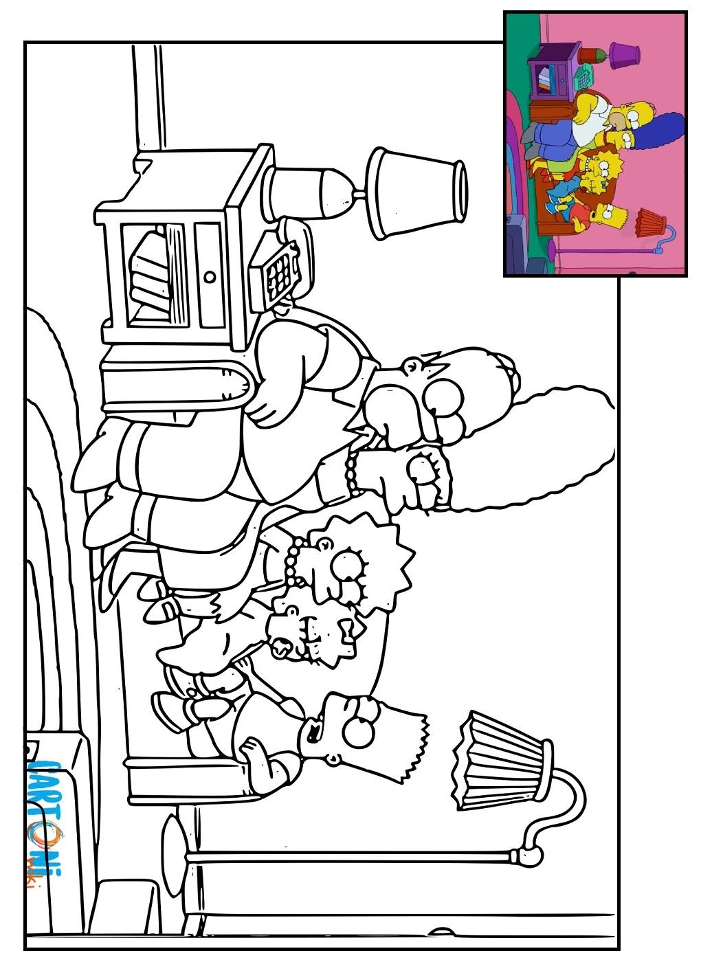 Disegni da colorare dei Simpson - Disegni da colorare