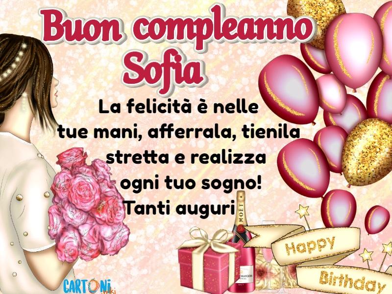 Auguri di Buon Compleanno Sofia