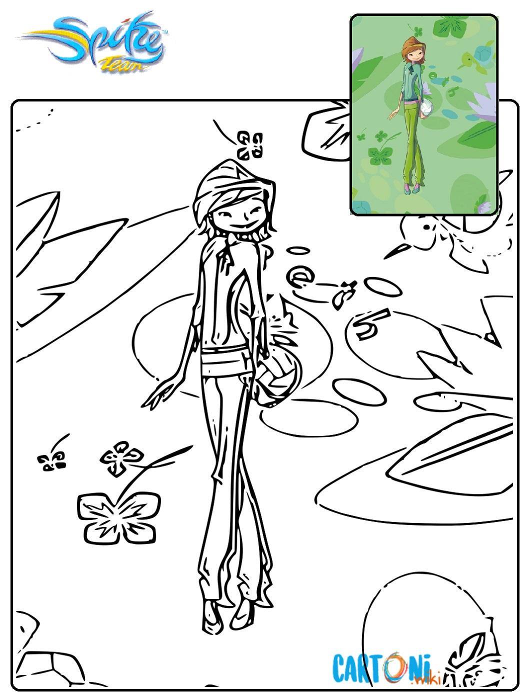 Spike Team colora Beth - Stampa e colora