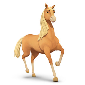 Spirit riding free personaggi Chicalinda cavallo - cartone animato DreamWorks Characters