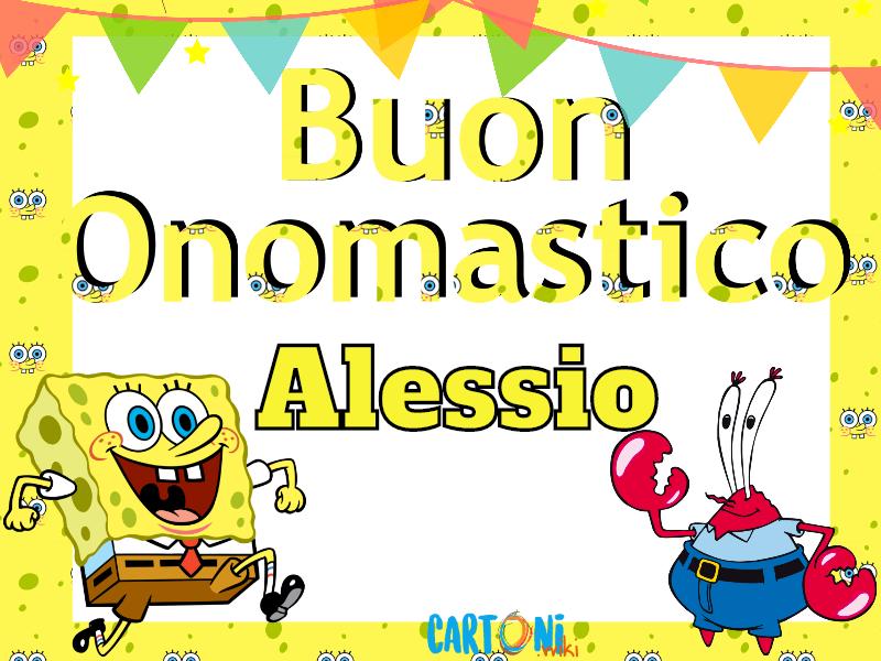 Alessio Buon onomastico con Spongebob - Buon onomastico Alessio