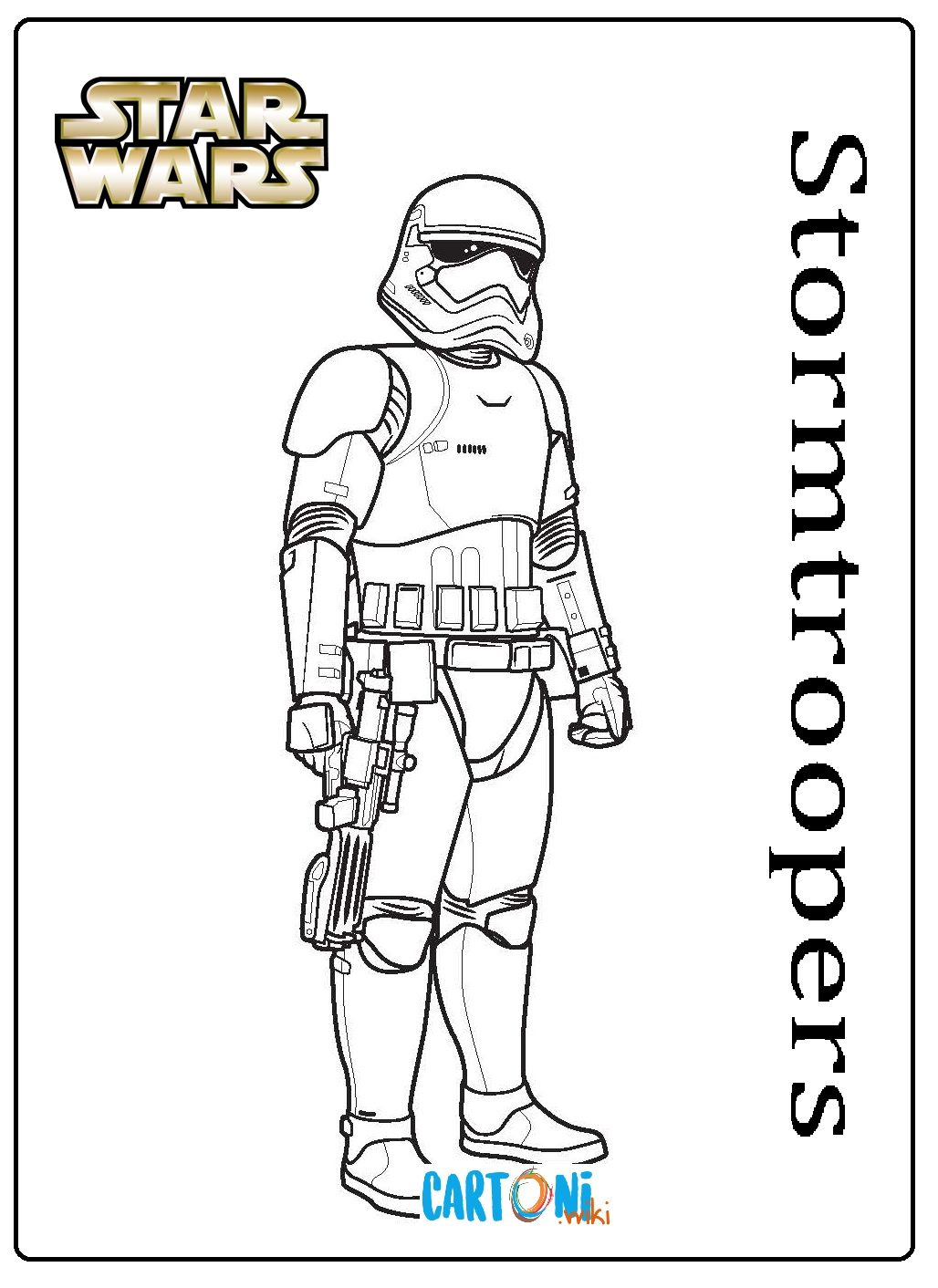 Stormtroopers da colorare di Star Wars - Disegni da colorare