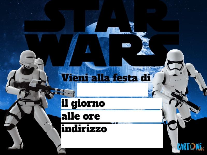 Star Wars inviti festa compleanno - Inviti feste compleanno