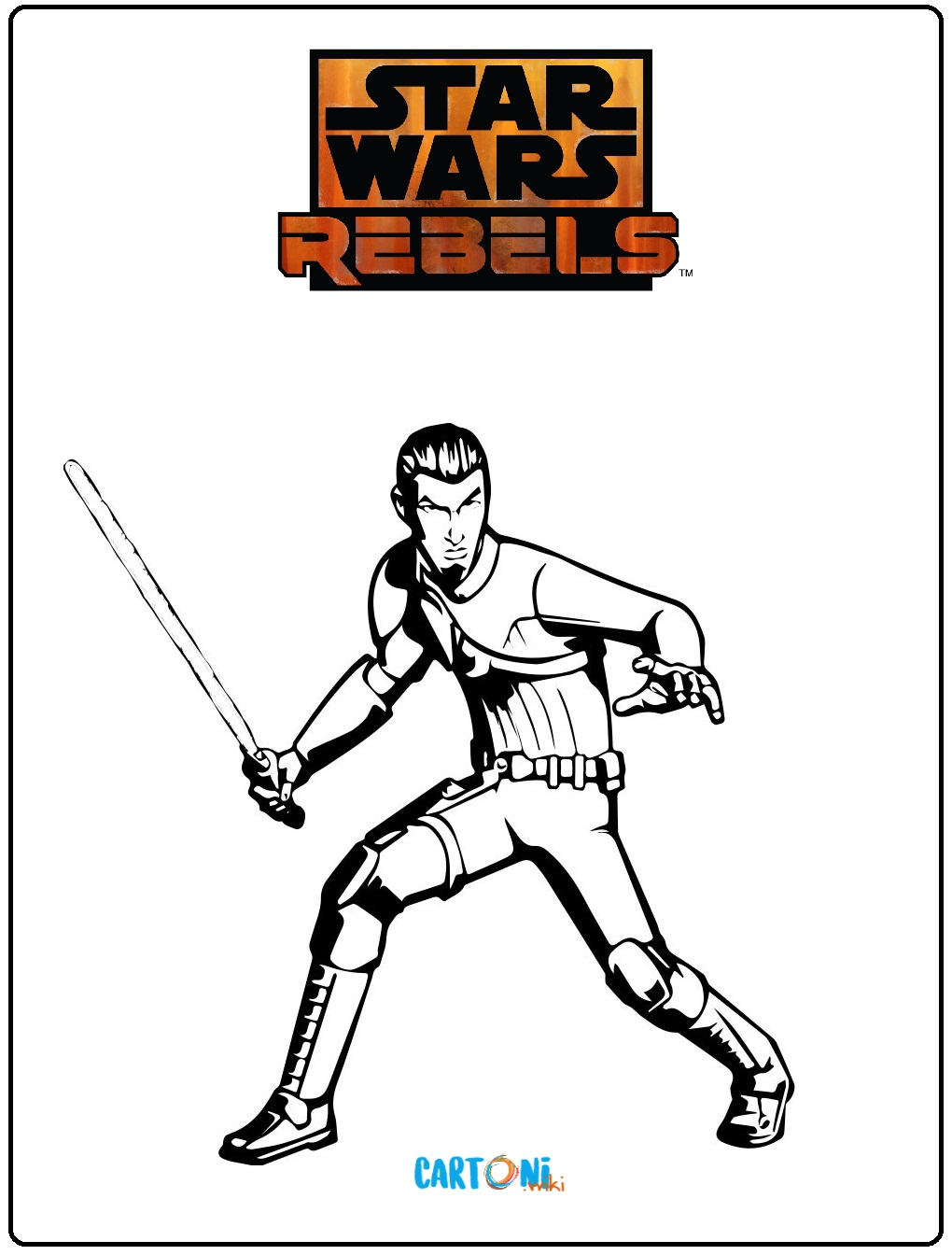 Disegni Da Colorare Star Wars Rebels.Star Wars Rebels Disegni Da Colorare Cartoni Animati