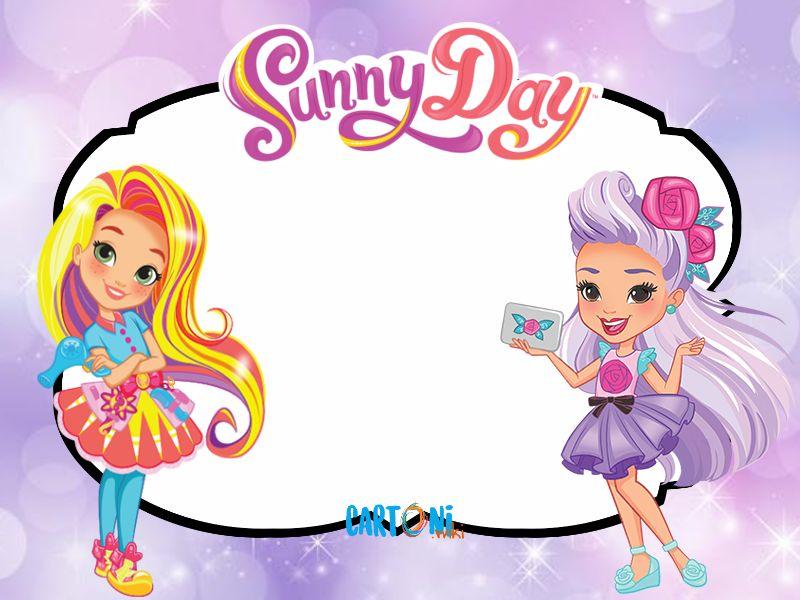 Sunny Day le immagini del cartone animato - Inviti feste compleanno