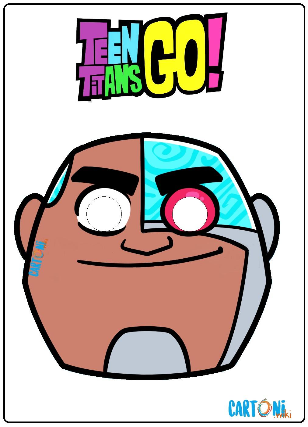 Teen titans Go maschera Cyborg - Cartoni animati