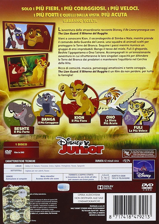 The Lion Guard DVD il ritorno del ruggito episodio pilota - retro custodia - cartoni animati home video
