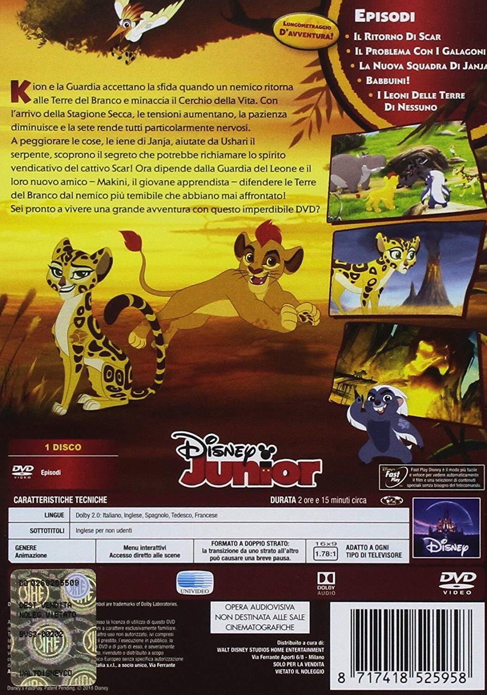 The Lion Guard DVD il ritorno di Scar retro custodia - cartoni animati home video