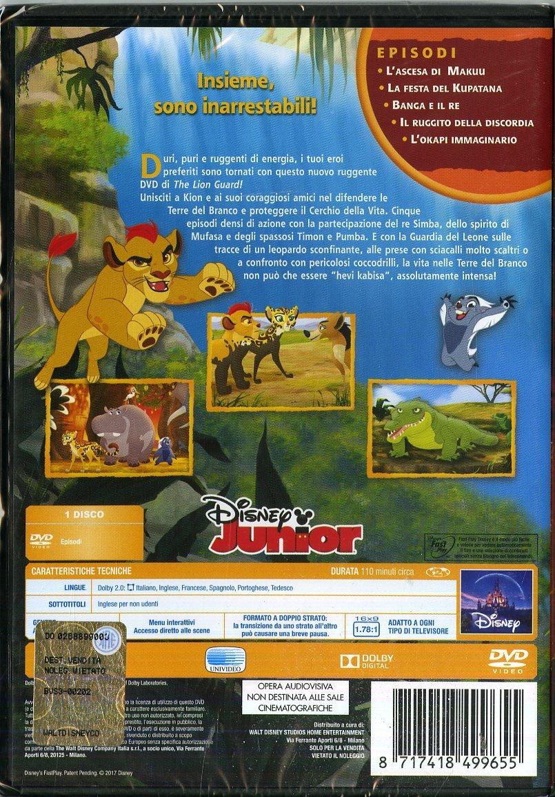 The Lion Guard DVD le terre dell'avventura retro custodia - cartoni animati home video