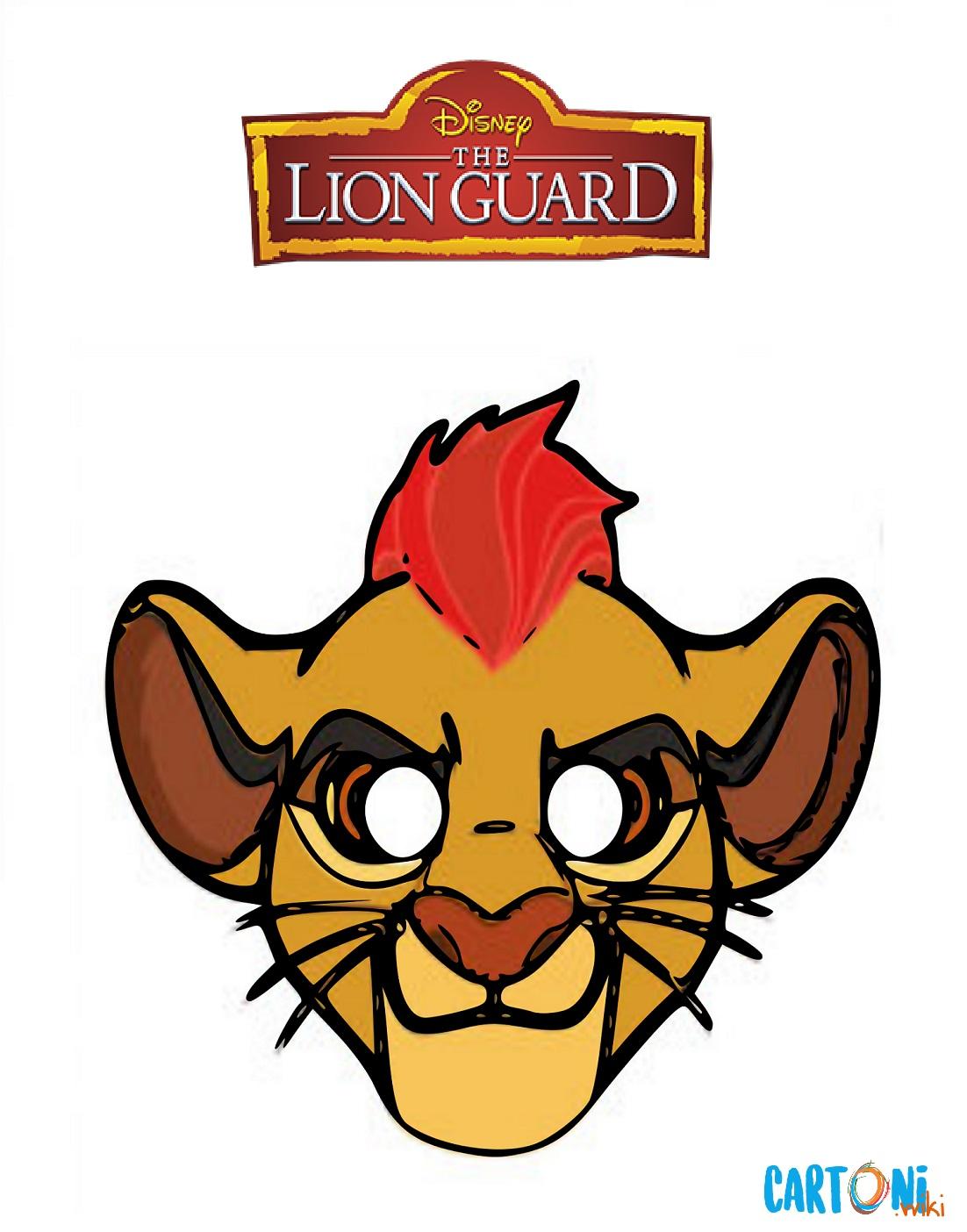 The lion Guard Machere da stampare - Maschere