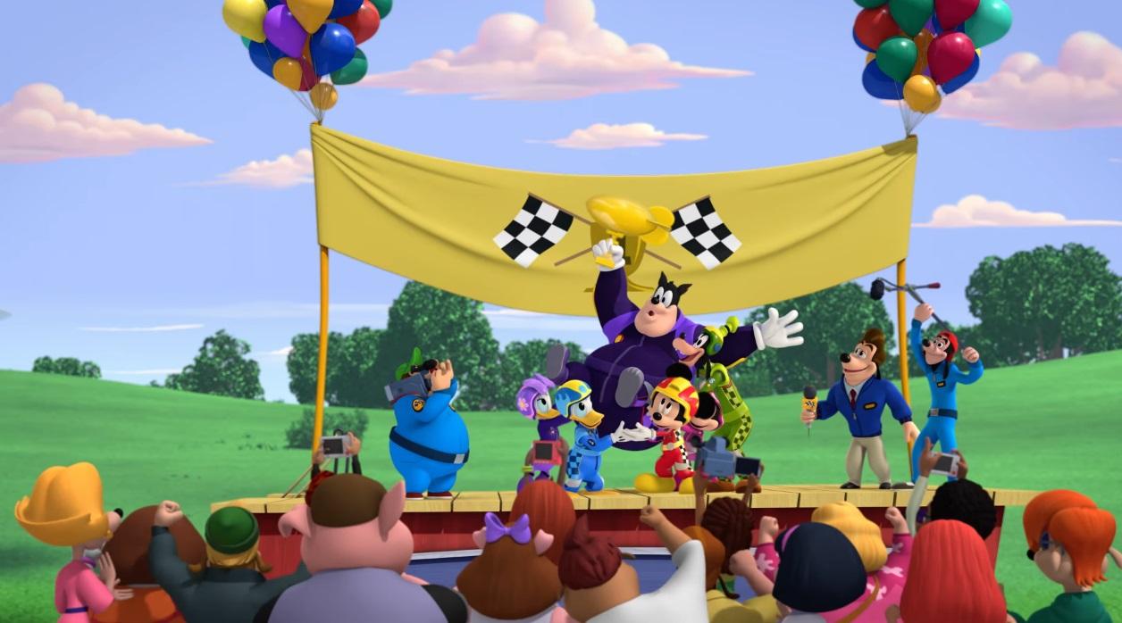 Topolino e gli amici del rally - Mickey and the Roadster Racers - corsa aerea - auto mongolfiera - Pietro Gambadilegno