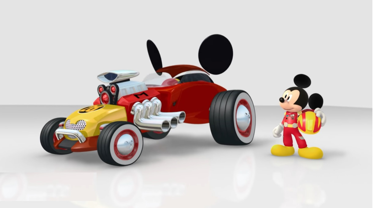 Topolino e gli amici del rally - Mickey and the Roadster Racers - Auto da corsa Topo Bolide - cartoni animati Disney