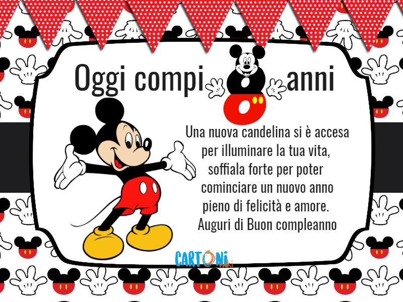 Topolino Oggi Compi 8 Anni Cartoni Animati