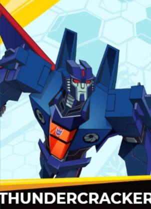Thundercracker - Transformers cybergverse personaggi robot cartonio animati k2