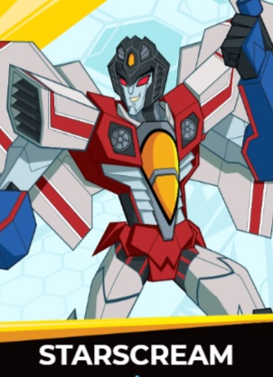 Starscream - Transformers cybergverse personaggi robot cartonio animati k2