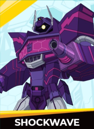 Shockwawe - Transformers cybergverse personaggi robot cartonio animati k2