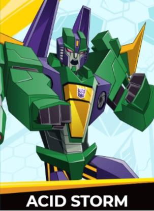 Acid Storm - Transformers cybergverse personaggi robot cartonio animati k2